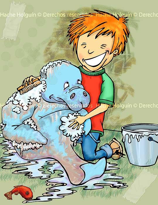 Ilustración infantil por Hache Holguín