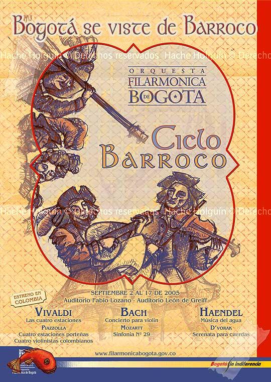 Ilustración y diseño para la Orquesta Filarmónica de Bogotá por Hache Holguín