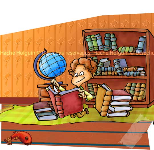 Ilustración infantil, técnica digital por Hache Holguín, Hugo Holguin