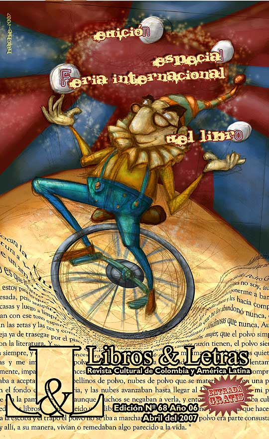 Ilustración y  diseño para portada de Libros y letras por hache holguin