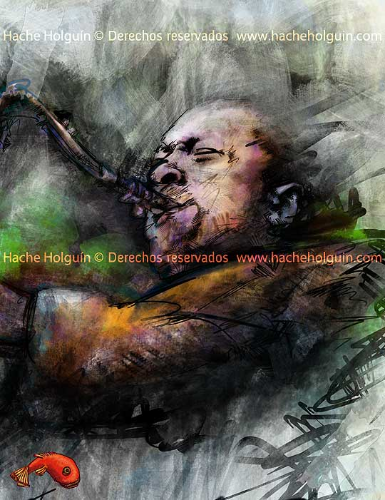 Poster Coltrane. Por hache holguín