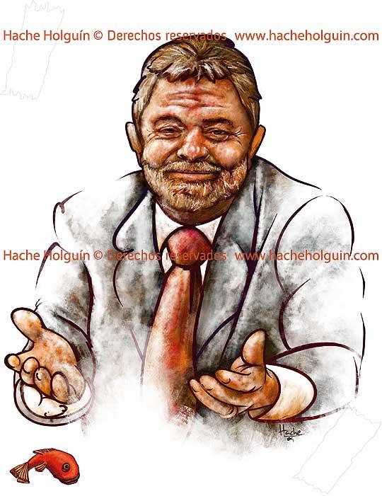 Retrato de Luiz Inácio Lula da Silva por Hache Holguín
