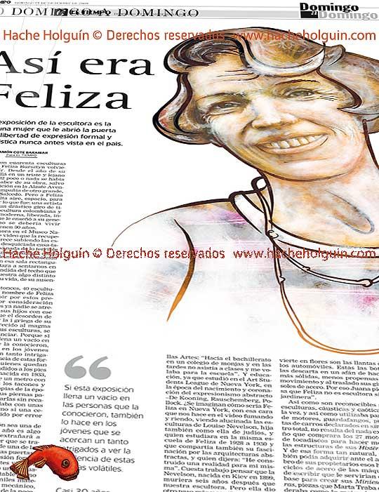 Retrato de Feliza Bursztyn por Hache Holguín