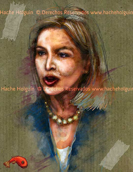 Retrato de Noemi Sanin por Hache Holguín