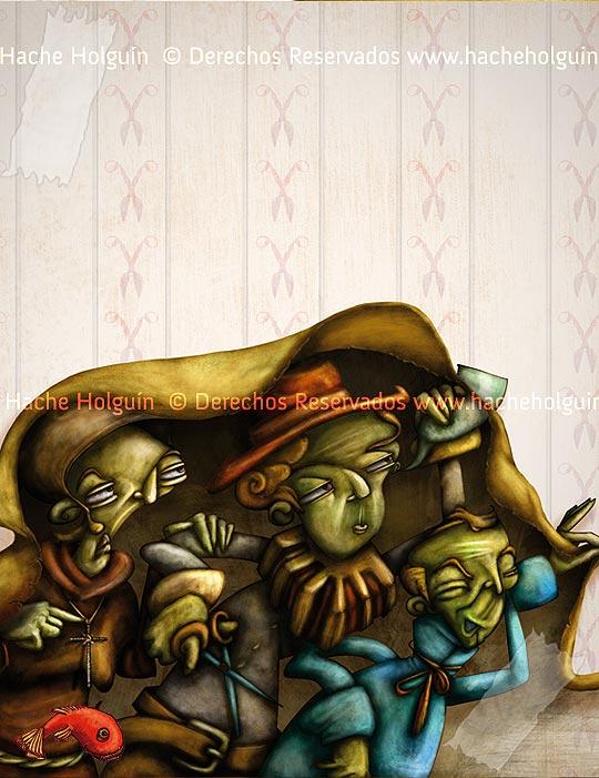 Ilustración de Hache Holguín.