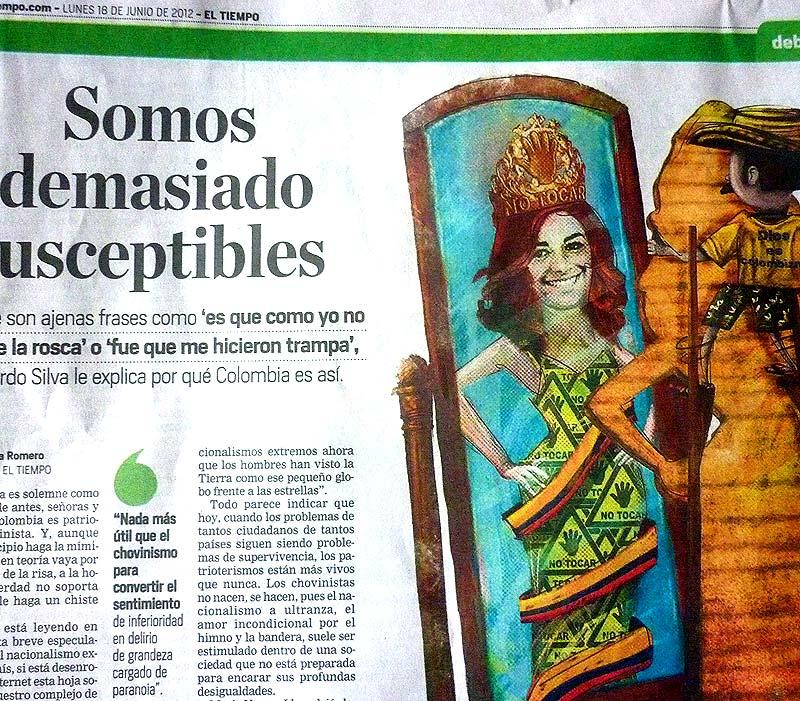 Ilustración. El Tiempo, Somos demasiado susceptibles por Hache Holguín.