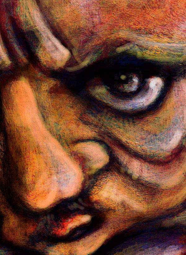 Retrato Edgar Allan Poe por Hache Holguín
