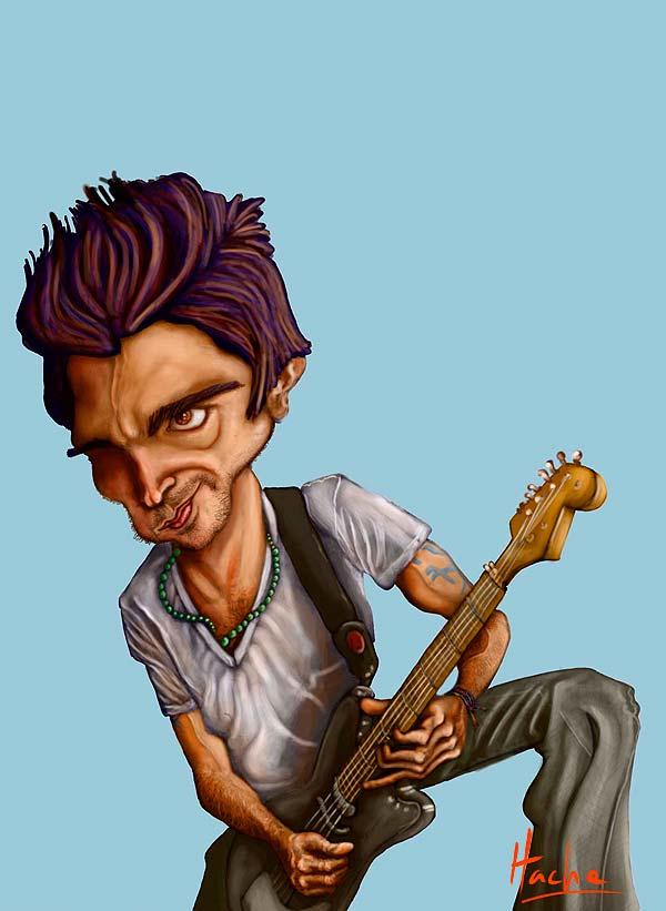 Caricatura de Juanes por Hache Holguin
