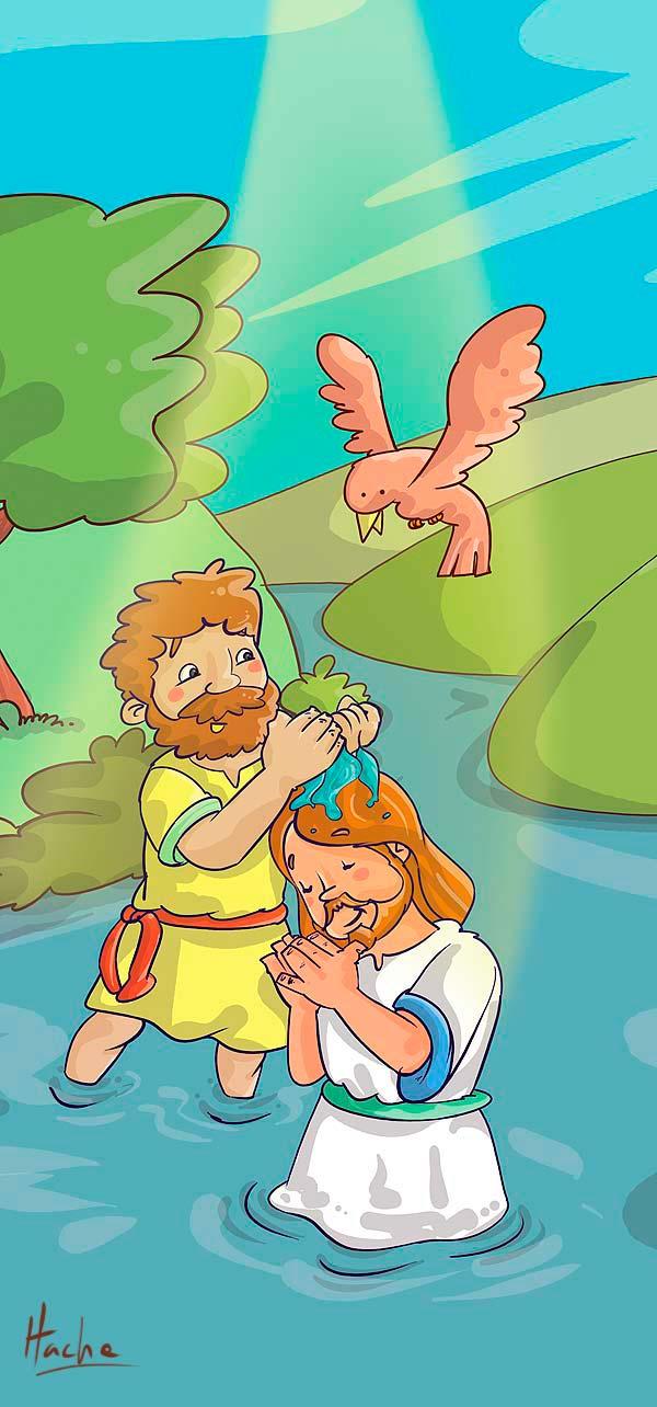 El bautizo de Jesús por Hache Holguín