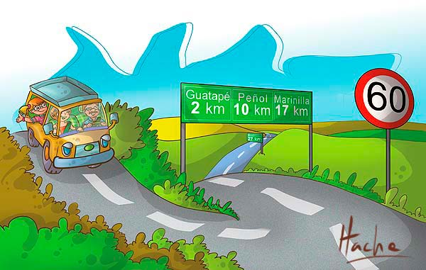 De viaje. Ilustración libro guía de matemáticas por Hache Holguin