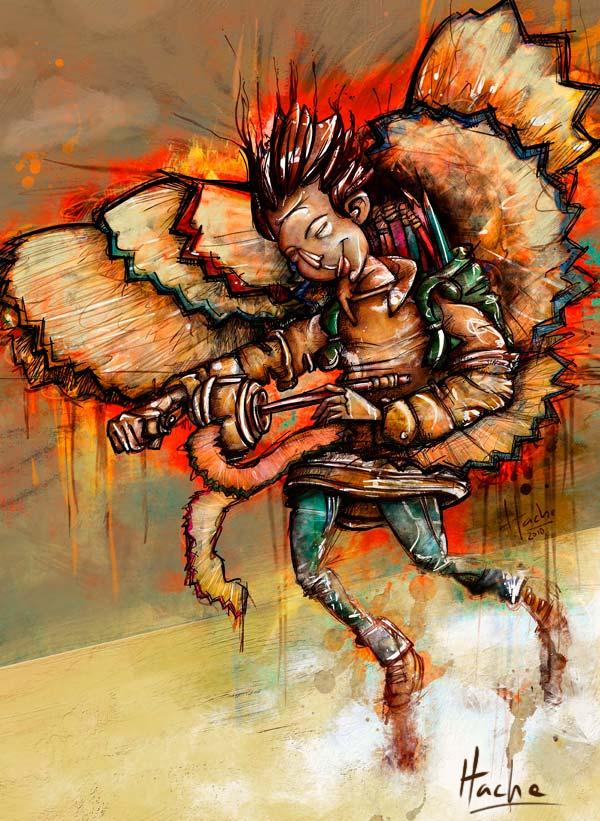 Ilustración: Ícaro por Hache Holguín