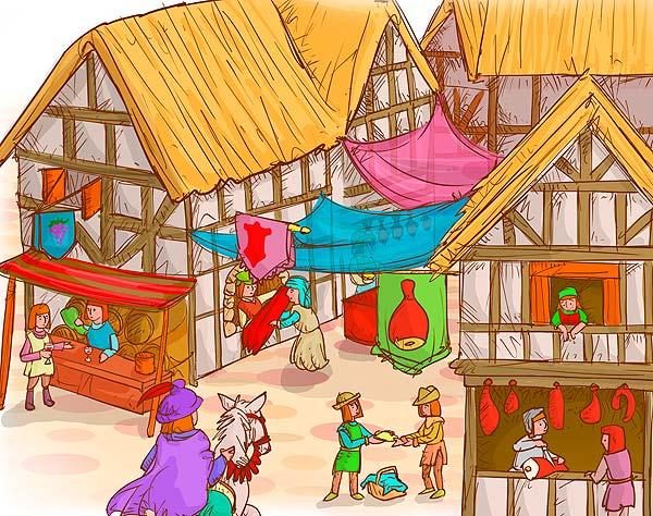 Ilustración medieval, grado séptimo por Hache Holguín