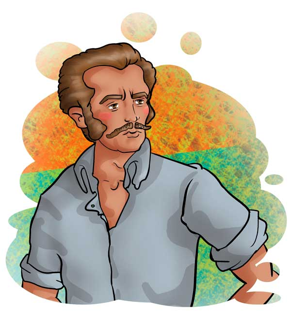 Ilustración. José Antonio Galán por Hache Holguín