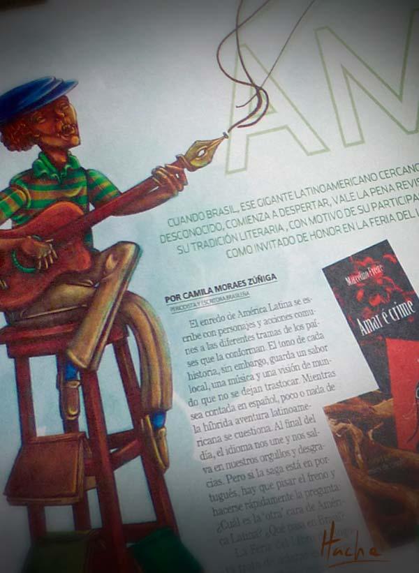 Ilustración. Letras brasileñas por Hache Holguín