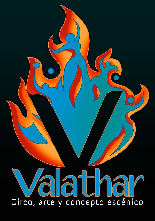Logotipo. Valathar circo por Hache Holguín