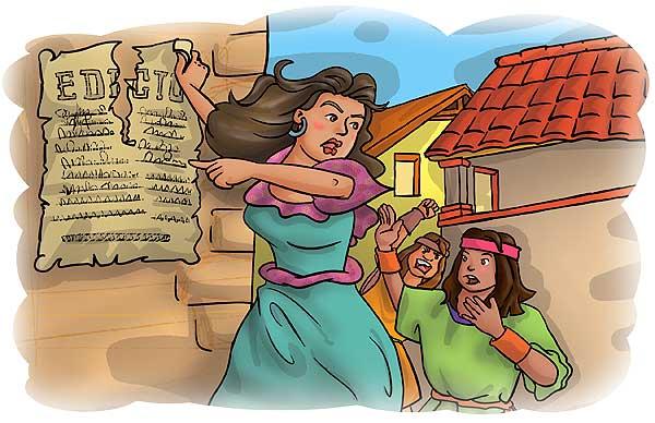 Ilustración. Manuela Beltrán por Hache Holguin