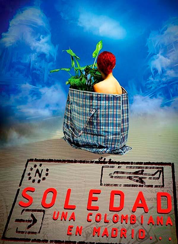 Diseño de carátula. Soledad, una colombiana en Madrid por hache Holguín