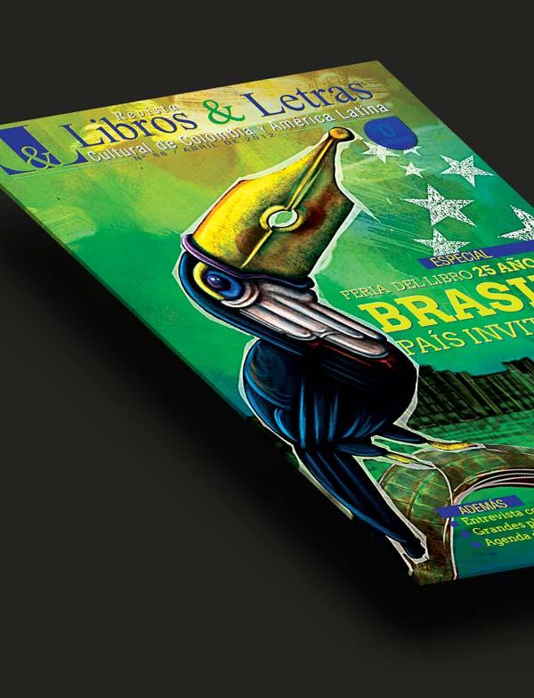 Ilustración y diseño. Portada Libros y Letras Nº 88 por Hache Holguín