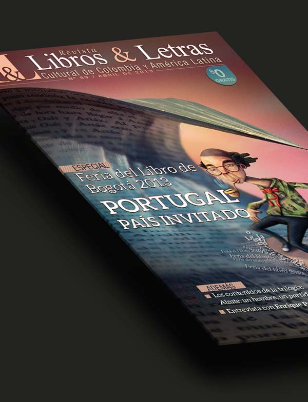 Ilustración y diseño. Portada Libros y Letras Nº 89 por Hache Holguín