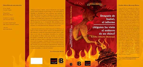 Ilustración y diseño de portada de libro. Después de Isabel, el infierno por Hache Holguin