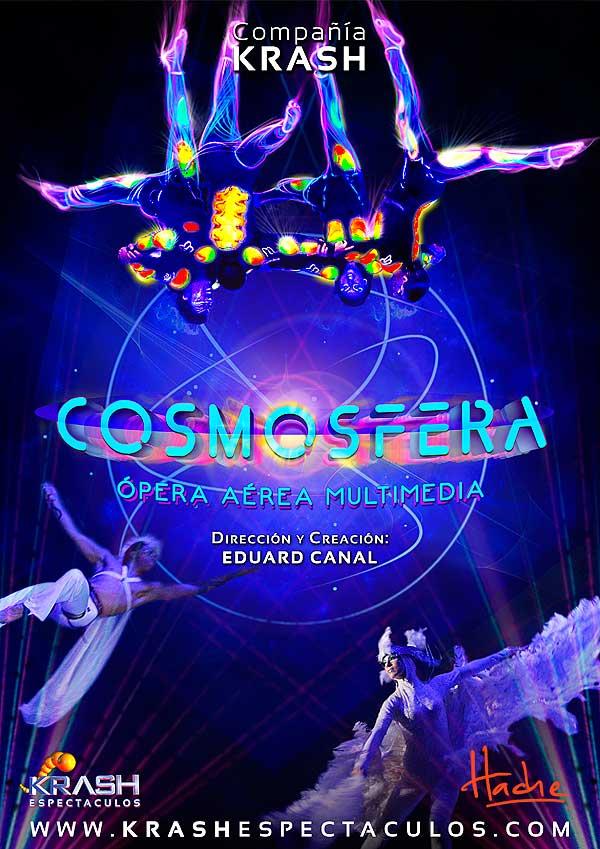 Diseño de cartel. Cosmosfera por Hache Holguín