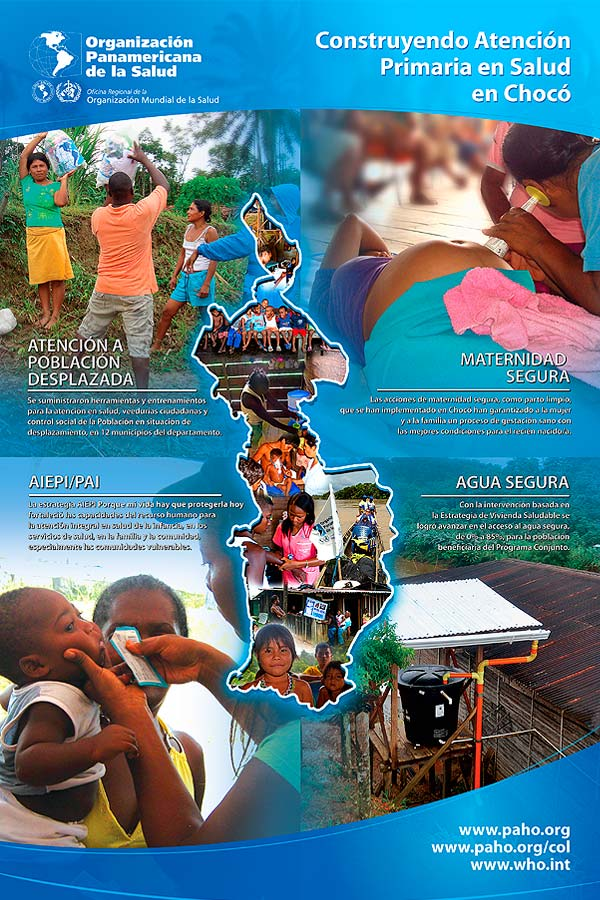 Diseño gráfico. Pendón Organización Panamericana de la Salud por Hache Holguín