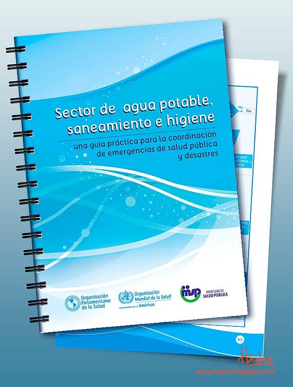 Diseño y diagramación. Guías del agua (OPS) por Hache Holguín
