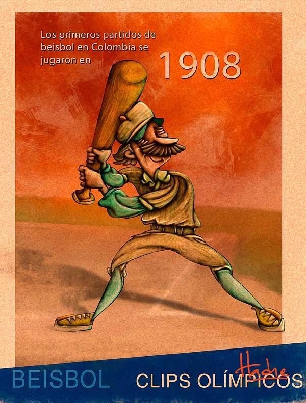 Ilustración infantil. Clips olímpicos por Hache Holguín