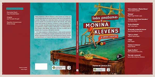 Ilustración y diseño de portada. Todos amábamos a Monina Klevens por Hache Holguín