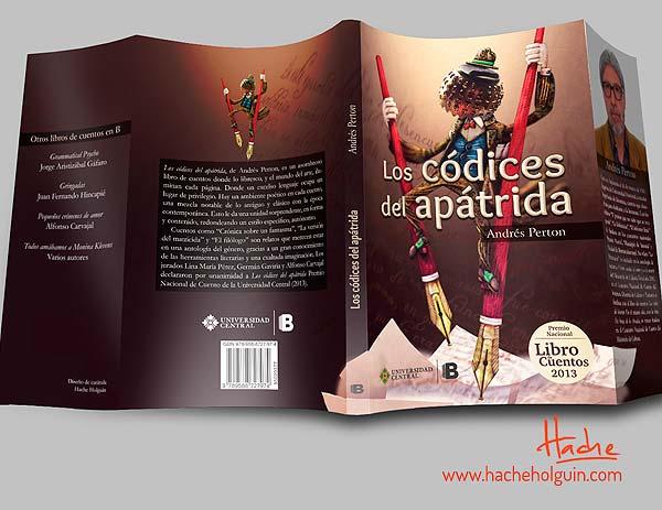 Ilustración y diseño de portada. Los códices del apátrida por Hache Holguín
