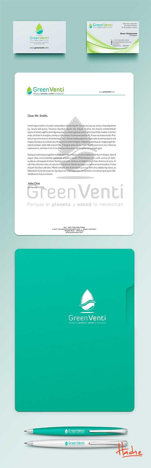 Imagen corporativa. Green Venti por Hache Holguín