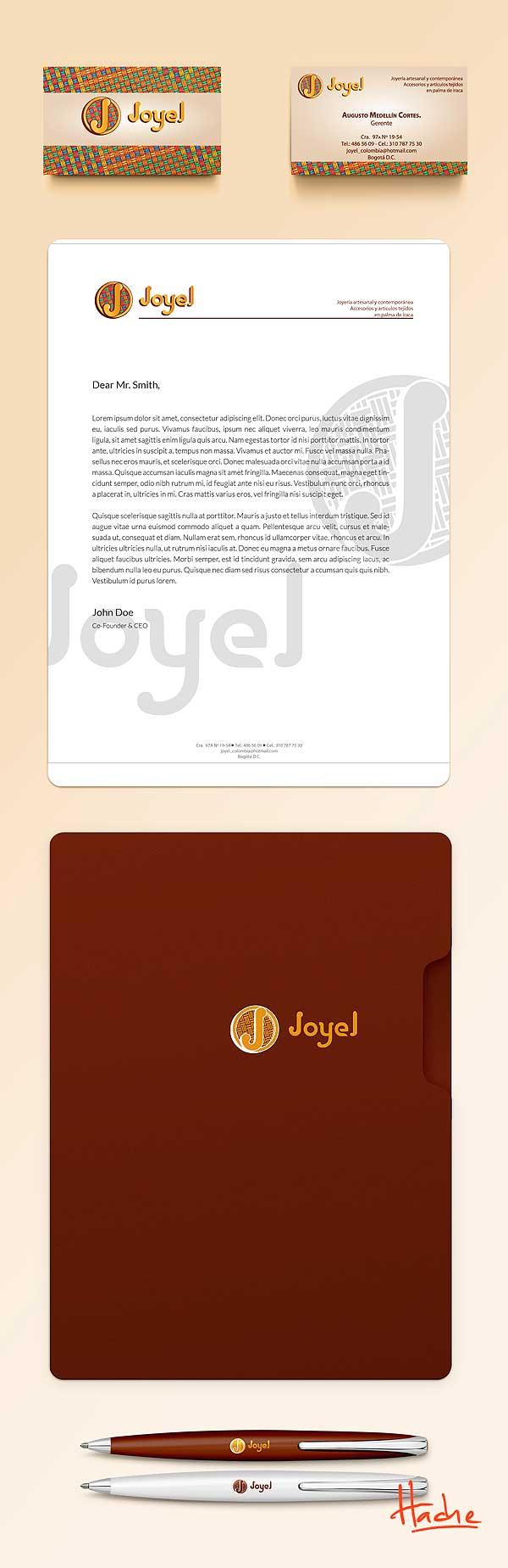 Imagen corporativa. Joyel Joyería por Hache Holguín