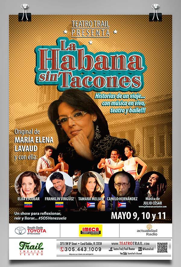 Diseño de poster. La Habana sin Tacones