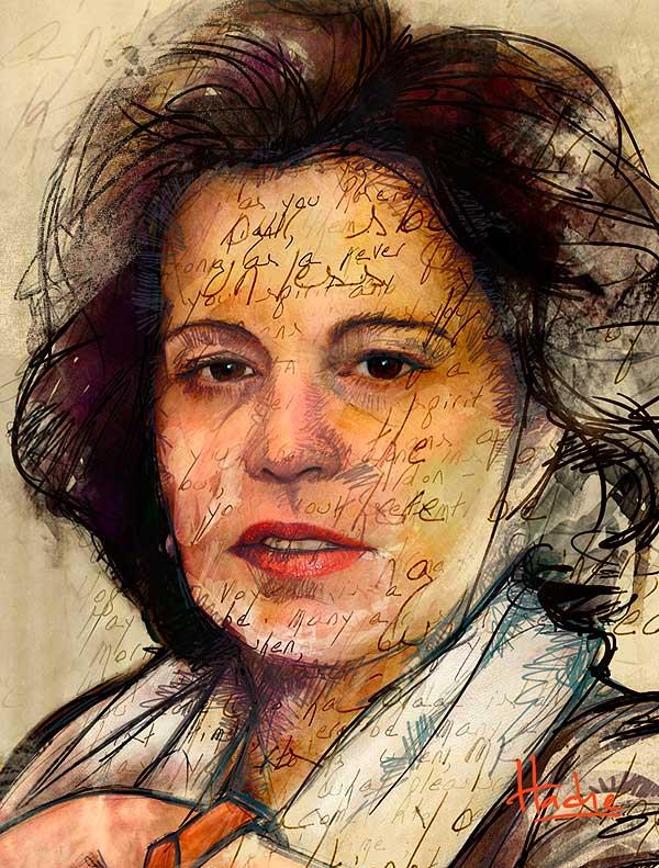 Retrato. Elena Echevarría Olano por Hache Holguín