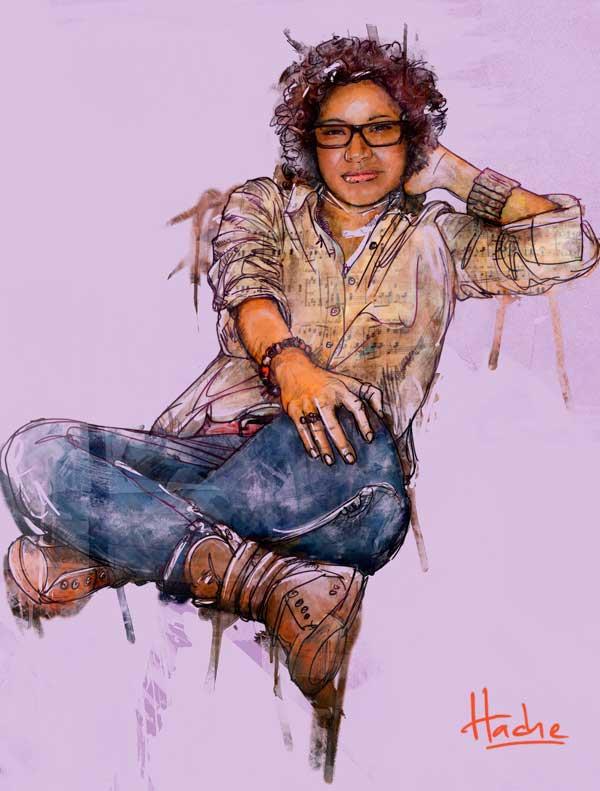 Retrato. Yahaira Osiris por Hache Holguín